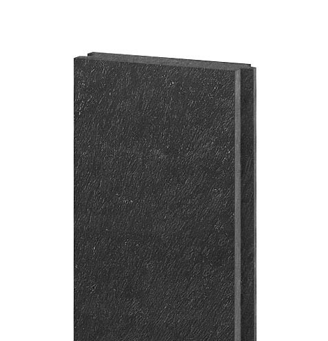 Brett mit Nut und Feder 132x32, 1,2 m, schwarz