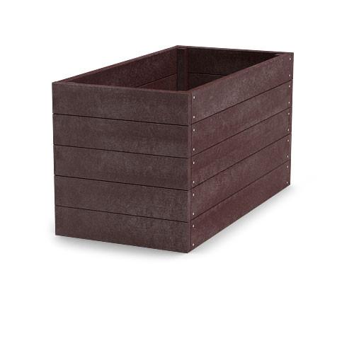 Material für Hochbeet 120x66x53 cm (Länge x Breite x Höhe), braun