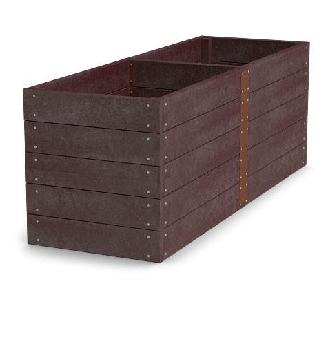 Material für Hochbeet 300x126x81cm (Länge x Breite x Höhe), braun