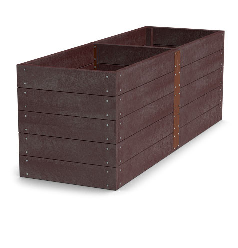 Material für Hochbeet 300x106x81cm (Länge x Breite x Höhe), braun