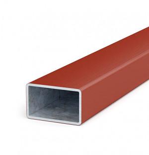 Zaunriegel 50x30x1,8 Länge bis 2 m, verzinkt + Kunststoffmantel, ziegelrot