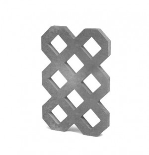 Rasengitterplatte Lite, 60x40x4 cm, grau