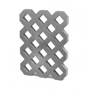 Rasengitterplatte VD800+, 80x60x6 cm, grau